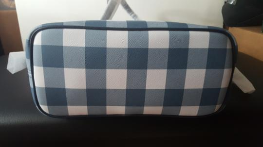 MICHAEL Michael Kors Plaid Tote in Denim Image 3