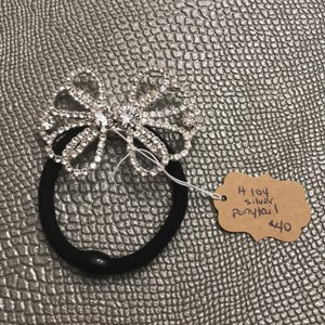 Unwritten Silver H104 Ponytail Tie Hair Accessory