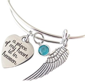 Fashion Jewelry For Everyone A Piece Of My Heart Is In Heaven Bangle Bracelet