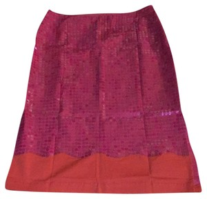 Moda International Skirt Fuchsia/Orange