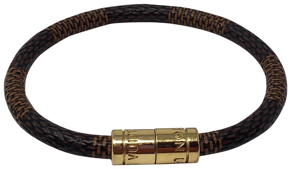 Louis Vuitton Gold Tone Keep It Wrap Bracelet