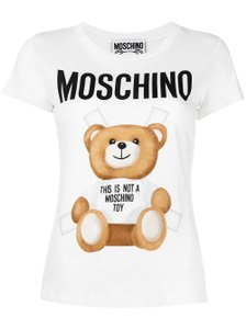 Moschino Monogram Bear Logo Letters Embroidered T Shirt Multicolor
