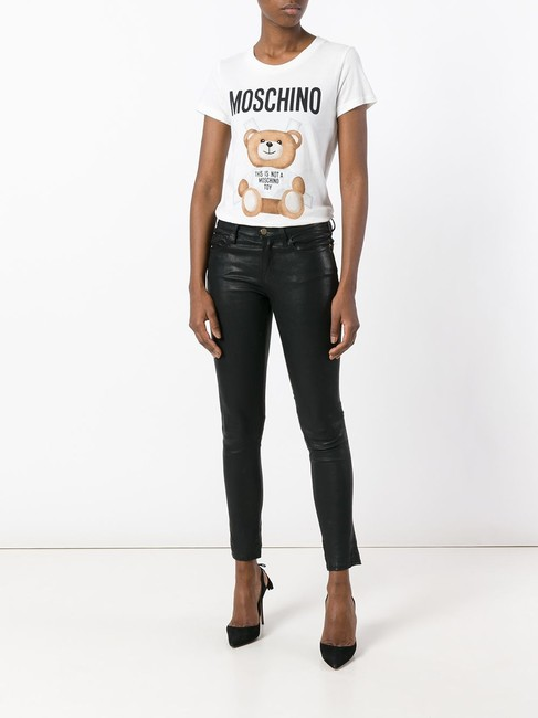 Moschino Monogram Bear Logo Letters Embroidered T Shirt Multicolor Image 1