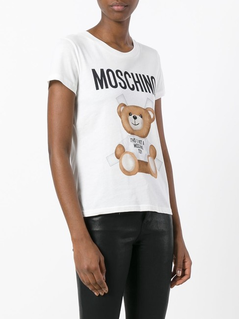 Moschino Monogram Bear Logo Letters Embroidered T Shirt Multicolor Image 2