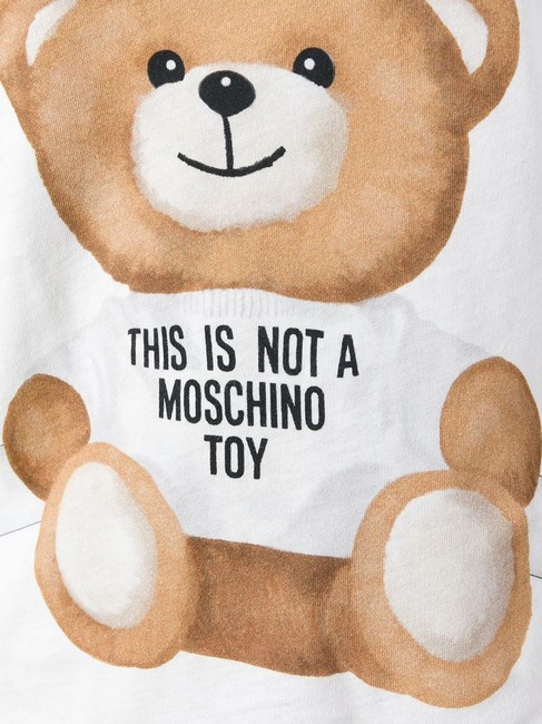 Moschino Monogram Bear Logo Letters Embroidered T Shirt Multicolor Image 4