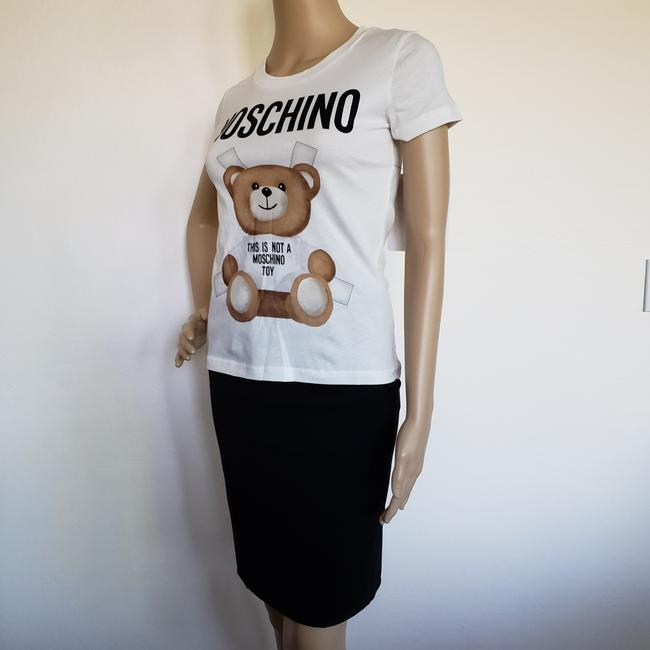 Moschino Monogram Bear Logo Letters Embroidered T Shirt Multicolor Image 8
