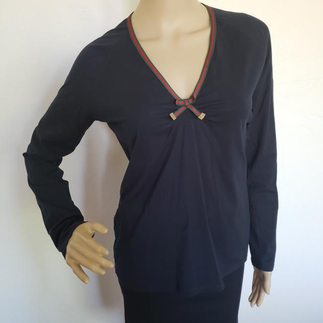 Gucci Longsleeve Gold Hardware Gg Guccissima Charm Top Black Image 5