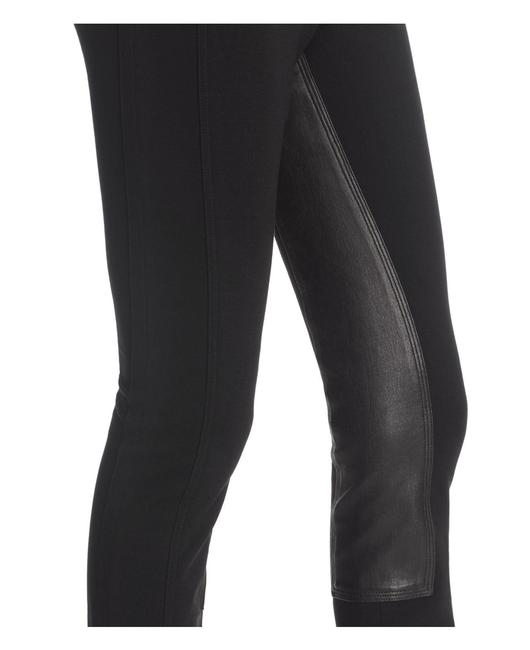 Theory Leather Stretch Riding Skinny Pants Black Image 2