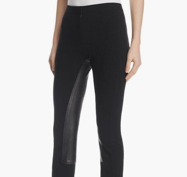 Theory Leather Stretch Riding Skinny Pants Black Image 3