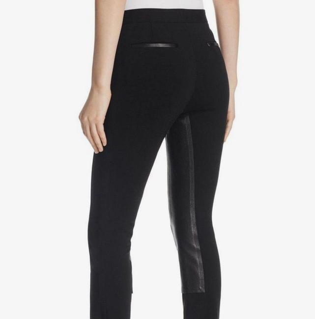 Theory Leather Stretch Riding Skinny Pants Black Image 4