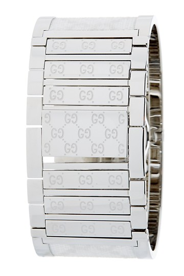 Gucci Stainless steel 33mm Gucci GG web Twirl watch Image 1