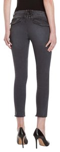 PAM & GELA Distressed Lace Up Skinny Jeans-Distressed