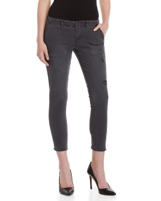 PAM & GELA Distressed Lace Up Skinny Jeans-Distressed Image 1