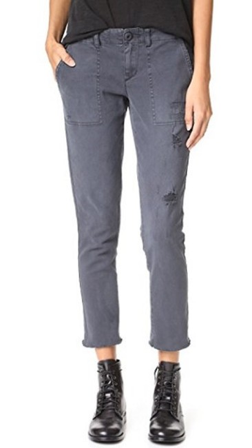PAM & GELA Distressed Lace Up Skinny Jeans-Distressed Image 2