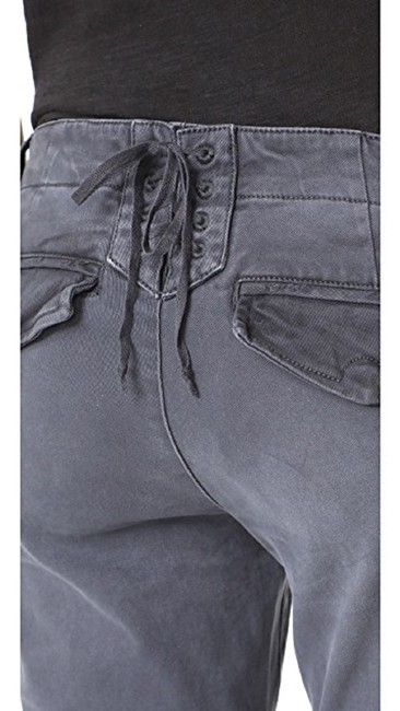 PAM & GELA Distressed Lace Up Skinny Jeans-Distressed Image 9