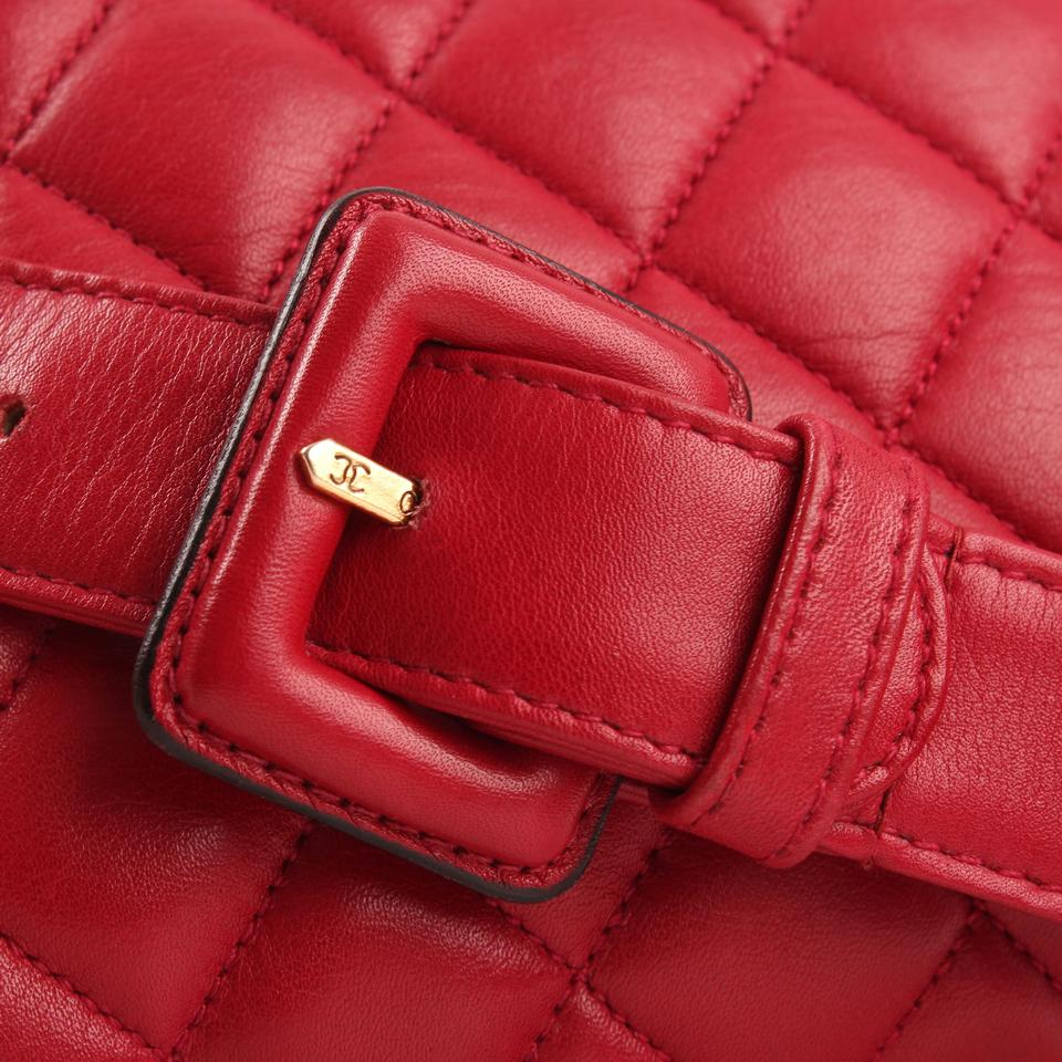 d692b0530 Chanel Belt Vintage Quilted Waist Fanny Pack Red Lambskin Leather ...