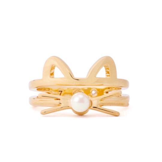 Preload https://img-static.tradesy.com/item/24138271/kate-spade-gold-out-west-cat-ring-0-3-540-540.jpg