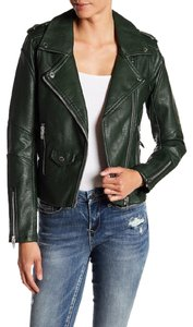BlankNYC Faux Leather Moto Cropped Motorcycle Jacket