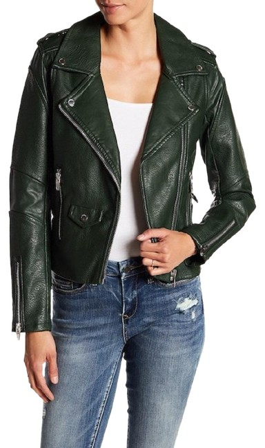 Item - Green Faux Leather Jacket Size 6 (S)