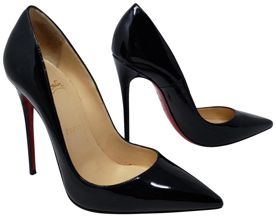 separation shoes 196b5 4ee08 Christian Louboutin Black Patent Leather So Kate Pointed-toe Pumps Size EU  37.5 (Approx. US 7.5) Regular (M, B) 27% off retail