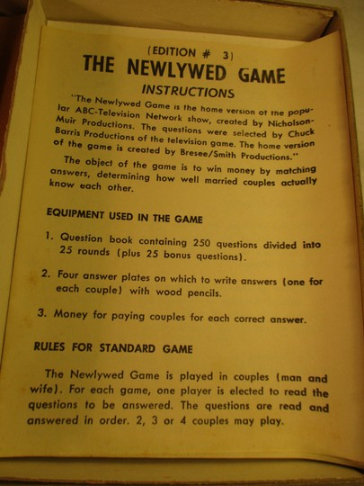 The Newlywed game vintage 3rd edition Image 8