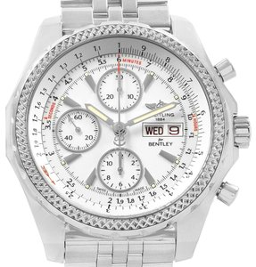 Breitling Breitling Bentley Motors GT White Dial Mens Watch A13362 Box Papers