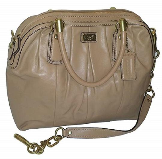 Coach Satchel in Taupe Image 1
