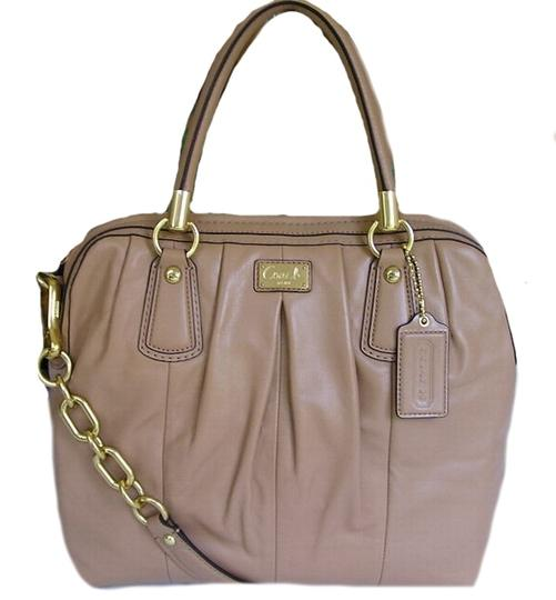 Coach Satchel in Taupe Image 2