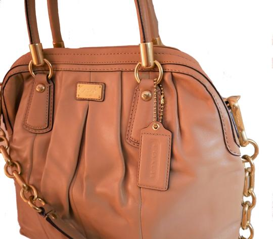 Coach Satchel in Taupe Image 3