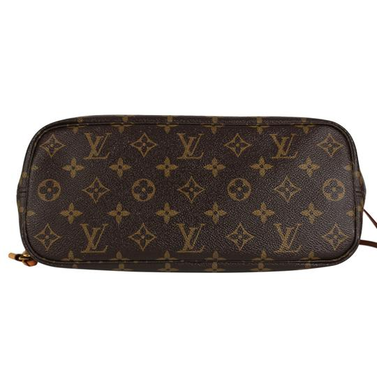 Louis Vuitton Neverfull Classic Leather Monogram Tote in Brown Image 3