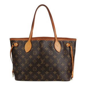 Louis Vuitton Neverfull Classic Leather Monogram Tote in Brown