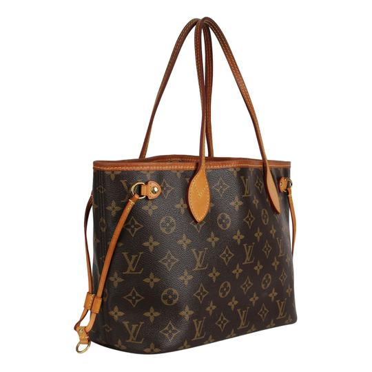 Louis Vuitton Neverfull Classic Leather Monogram Tote in Brown Image 1
