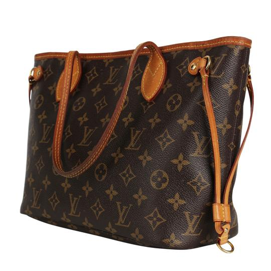 Louis Vuitton Neverfull Classic Leather Monogram Tote in Brown Image 2