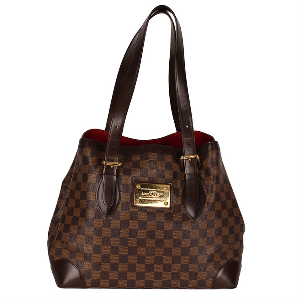 9367f35beb6f Louis Vuitton Hampstead Mm 6651 Brown Canvas Tote - Tradesy