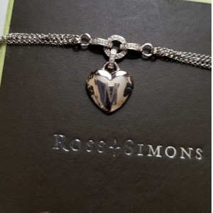 Ross-Simons Ross-Simons Double Strand Heart Necklace with Diamonds