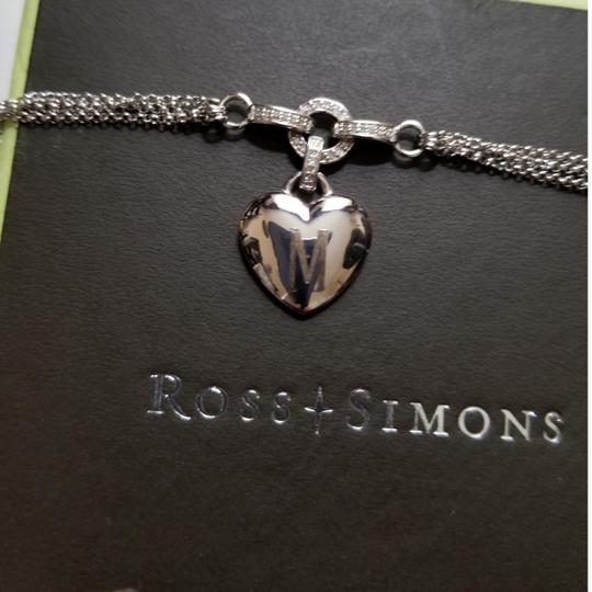Preload https://item2.tradesy.com/images/ross-simons-diamonds-and-white-gold-double-strand-heart-with-necklace-24138921-0-6.jpg?width=440&height=440