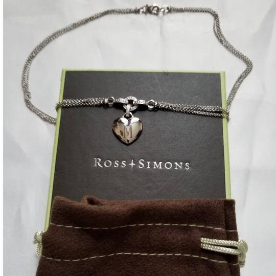 Ross-Simons Ross-Simons Double Strand Heart Necklace with Diamonds Image 1