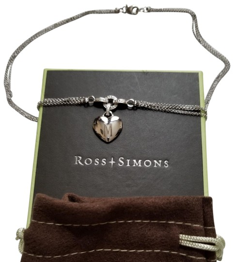 Ross-Simons Ross-Simons Double Strand Heart Necklace with Diamonds Image 2
