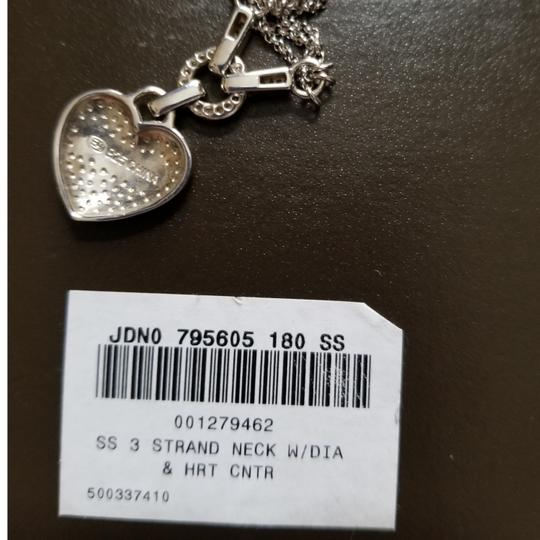 Ross-Simons Ross-Simons Double Strand Heart Necklace with Diamonds Image 4