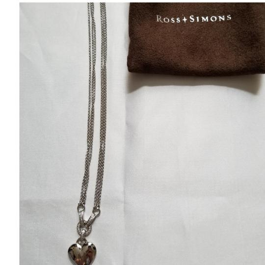 Ross-Simons Ross-Simons Double Strand Heart Necklace with Diamonds Image 5