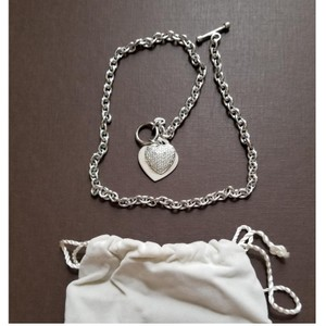 Jared 2-Heart Toggle Necklace with Stones