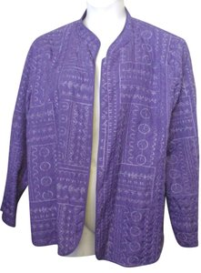 Bonworth Woman Fly Open Quilted 20w 1x Lined Purple Jacket