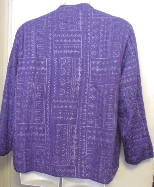 Bonworth Woman Fly Open Quilted 20w 1x Lined Purple Jacket Image 1
