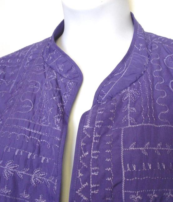 Bonworth Woman Fly Open Quilted 20w 1x Lined Purple Jacket Image 2