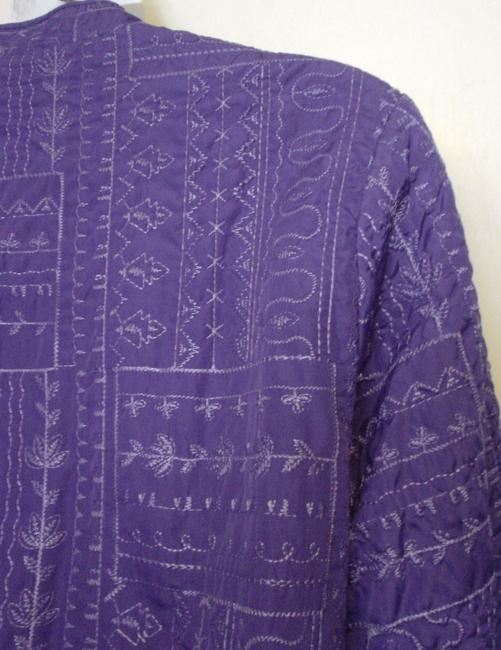 Bonworth Woman Fly Open Quilted 20w 1x Lined Purple Jacket Image 3