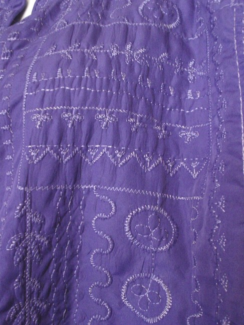 Bonworth Woman Fly Open Quilted 20w 1x Lined Purple Jacket Image 4
