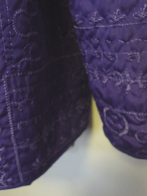 Bonworth Woman Fly Open Quilted 20w 1x Lined Purple Jacket Image 5