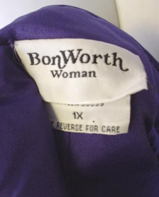 Bonworth Woman Fly Open Quilted 20w 1x Lined Purple Jacket Image 6