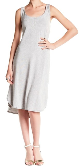 Tart Collections short dress Gray Super Quality Modal Scoop Neck Right Chest Pocket Cut Out Back Partial Button Front on Tradesy Image 1