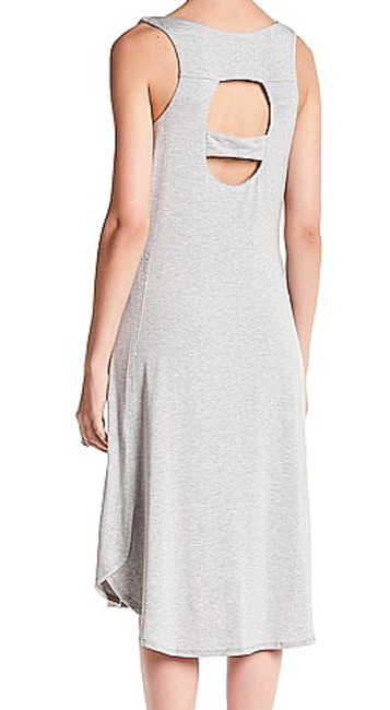 Tart Collections short dress Gray Super Quality Modal Scoop Neck Right Chest Pocket Cut Out Back Partial Button Front on Tradesy Image 2
